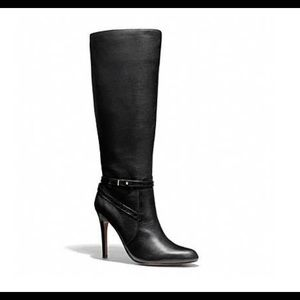Authentic COACH Black Leather Dress Boot
